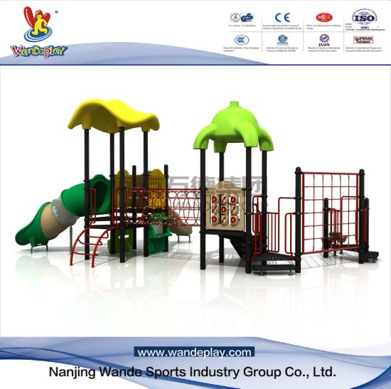 Outdoor Cartoon Playground Equipment for Schools with Climbing Net