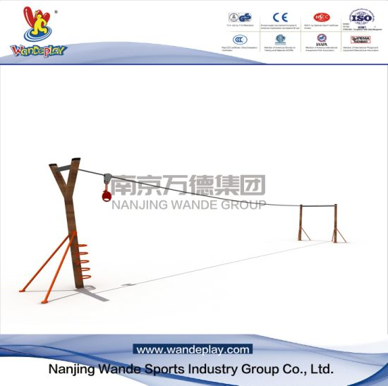 Outdoor Sliding Cable Playset for Children in Amusement Park
