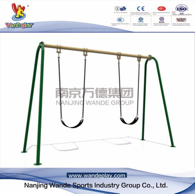 Kids Outdoor Swing Playset with 2 Seats in The Park