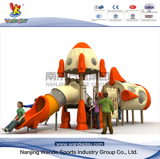 Outdoor Aircraft Playset with Slide for School