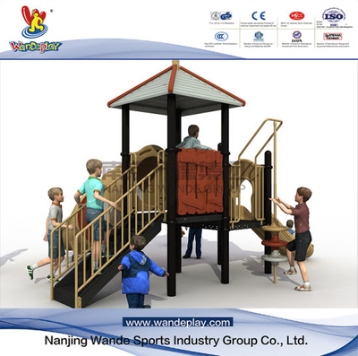 Outdoor Pavilion Playset with Slide for Youth in Backyard
