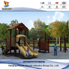 Outdoor Tree House Playset with Slides in School