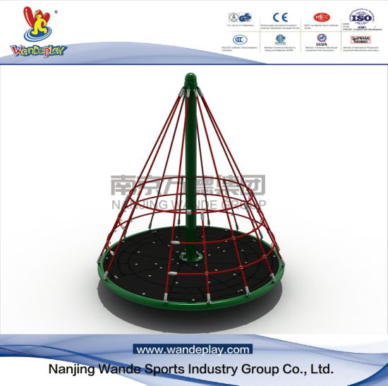 Pyramid Turntable of Outdoor Rotating Playground Equipment for Kids