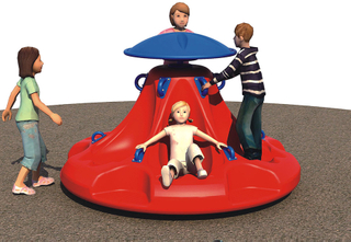 Children Rotating Seat Outdoor Playground Equipment for Amusement Park