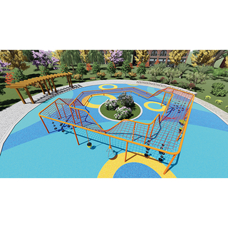 Climbing Rope Net Playground with Swing And Roundabout