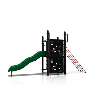Outdoor Child Rope Net Climbing Playground with Slide And Rock Climbing