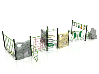 Outdoor Kids Playground Rock Climbing Rope Playset for Adventure Park