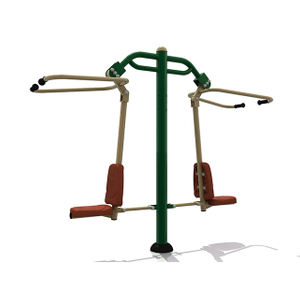 Double Pull Down Challenger Outdoor Fitness Equipment For Adults