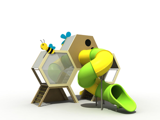 Outdoor Honeycomb Playground Slide Equipment for Children